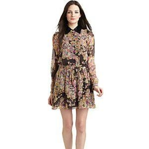 Gryphon Silk Mini Shirt Dress